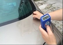 GuoOu car paint thickness gauge test demo