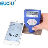 0~1250um GUOOU GTS810F Car Paint Magnetic Chrome Digital Coating Thickness Tester Meter automotive coating Thickness Gauge